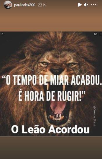 """lee - Após escândalo sobre traição de sua esposa com o pastor Samuel Mariano, presbítero Paulo Henrique publica mensagem, """"O leão acordou"""" - CONFIRA"""