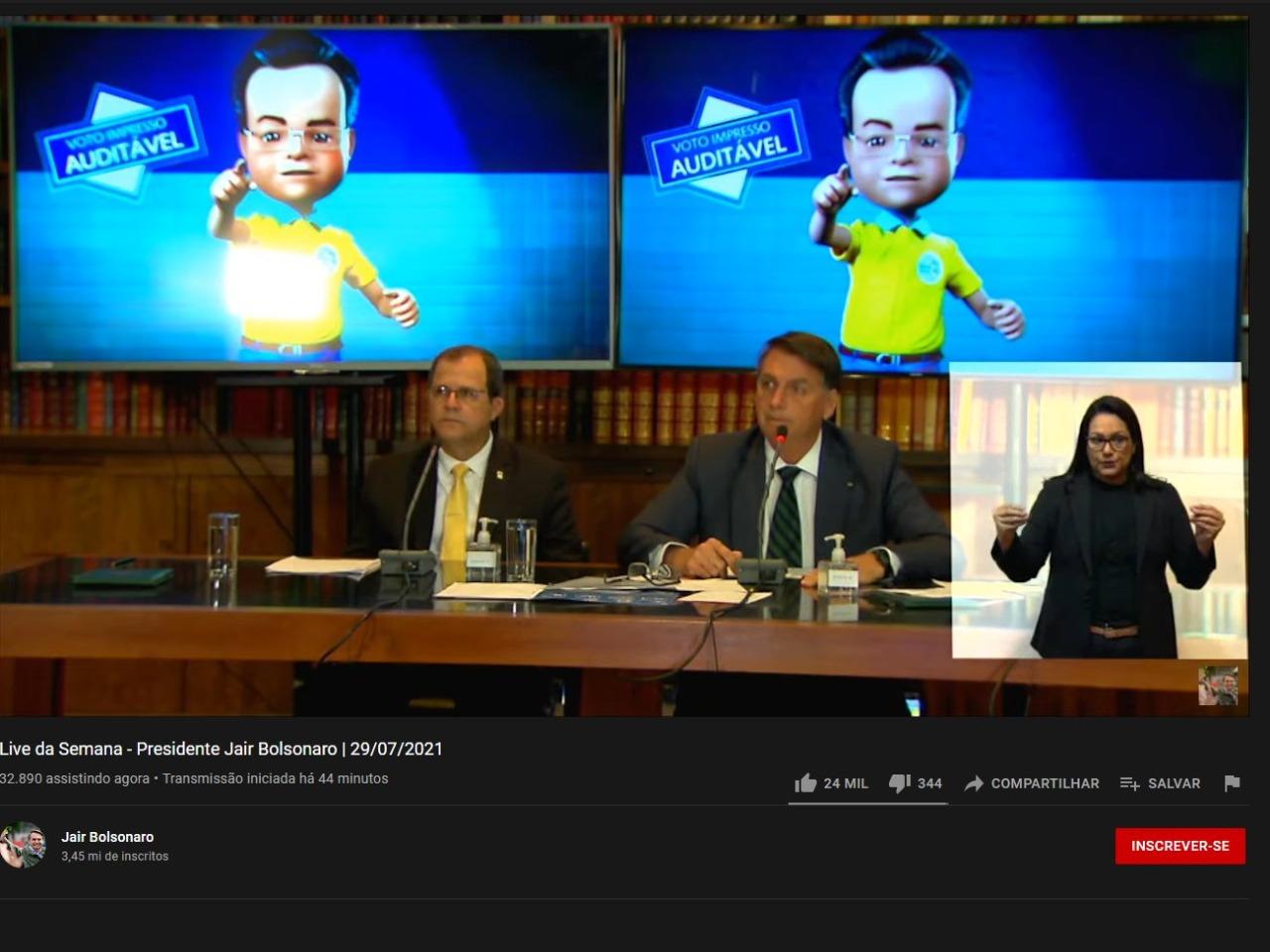 live tse bolsonaro1 - TSE desmente alegações de Bolsonaro sobre urna eletrônica em live