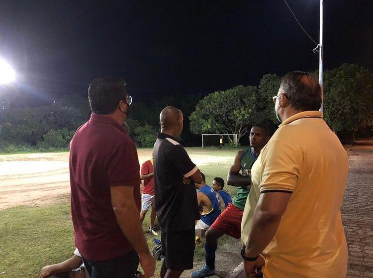 marcilio futebol - Marcílio do HBE visita Campo de Futebol do Brisamar e inicia jornada para melhorias no local