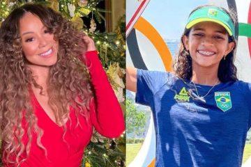 """mariah carey e de rayssa leal  360x240 - """"Você é incrível!"""", diz Mariah Carey a Rayssa Leal, a Fadinha do skate - VEJA"""