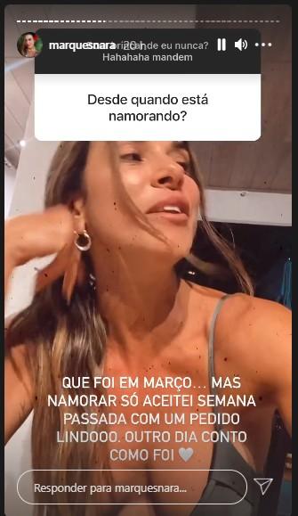 nara - NOVO AMOR! Nara Marques revela que está namorando e faz mistério sobre identidade do sortudo - VEJA