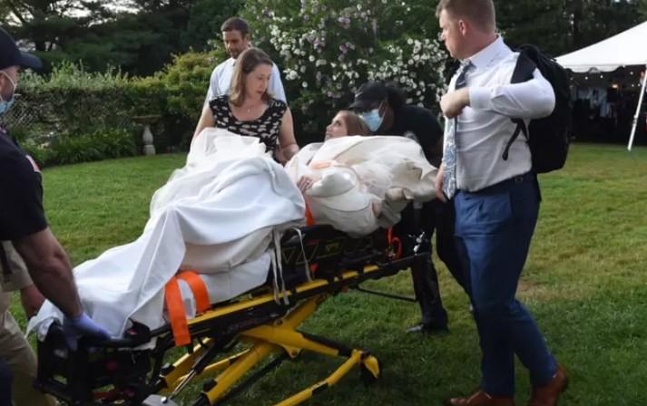 noiva - Noiva dá passo em falso durante dança de casamento e vai parar no hospital - VEJA VÍDEO