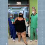 paraibana vence covid 150x150 - Paraibana com quase 200 kg se recupera da Covid-19 após 9 dias em UTI