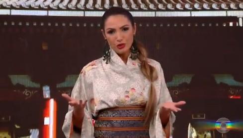 patricia poeta encontro - Patrícia Poeta é acusada de apropriação cultural após usar kimono no Encontro