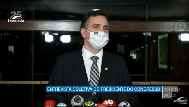 rodrigo pacheco 2 - 'TODO O QUE QUER RETROCESSO, SERÁ INIMIGO DA NAÇÃO'; Congresso definirá modelo de eleições em 2022, diz Pacheco; VEJA VÍDEO