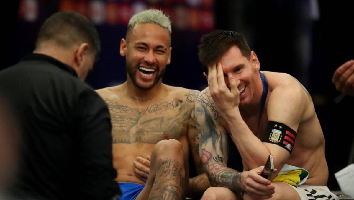 screenshot pbs.twimg .com 2021.07.11 12 53 28 e1626018948816 - Depois de chorar em campo, Neymar é fotografado gargalhando ao lado de Messi