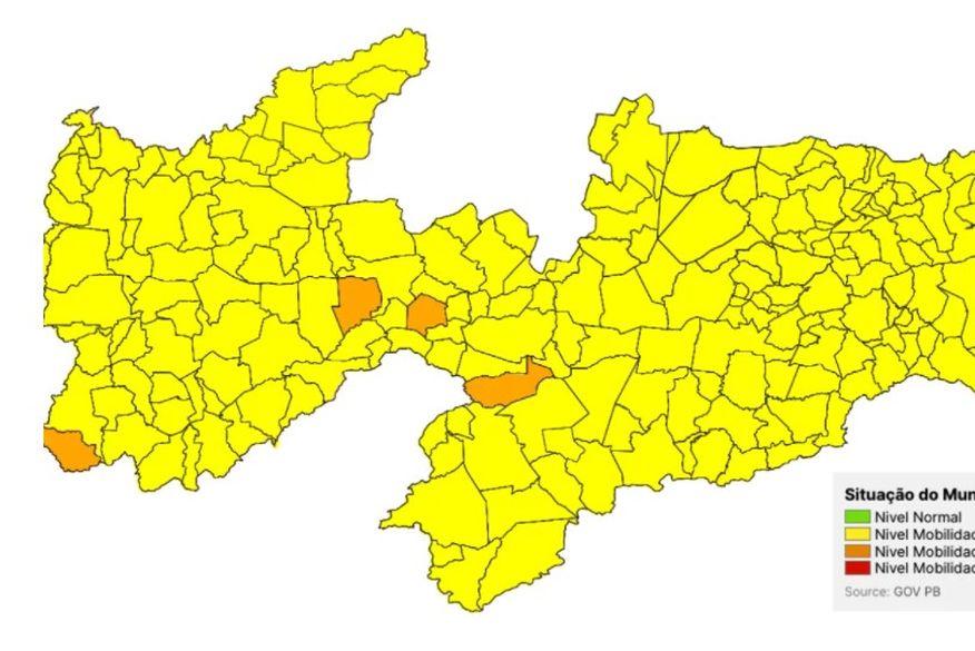 Covid-19: apenas 4 municípios mantém bandeira laranja e Estado deve ampliar flexibilizações