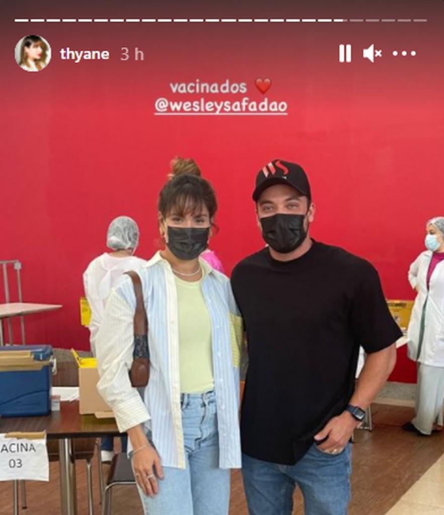 thyane wesley vacinados - FUROU FILA? Esposa de Wesley Safadão é investigada por MP após receber vacina antes da data
