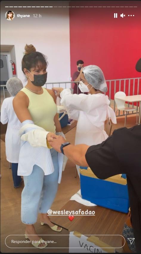 thyane - FUROU FILA? Esposa de Wesley Safadão é investigada por MP após receber vacina antes da data