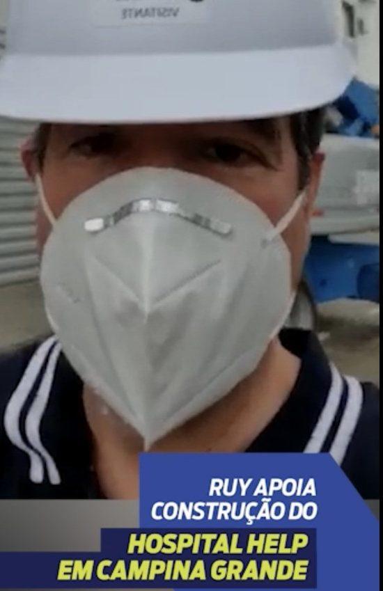 unnamed 2 e1625840274523 - Ruy Carneiro visita obras do Hospital Filantrópico Help que vai atender milhares de pessoas de todo NE