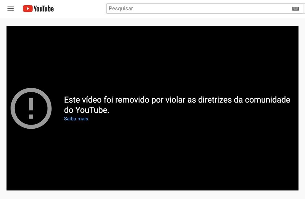 youtube bolsonaro removido - NO YOUTUBE: Vídeos de Bolsonaro são removidos por dados incorretos sobre covid-19