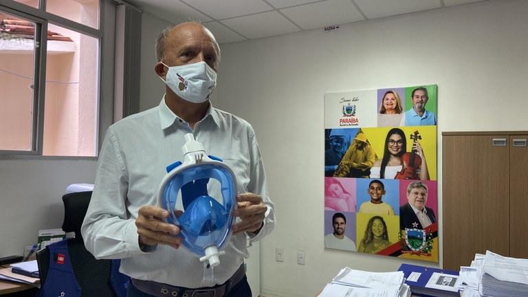 082549d5 89c2 43f6 aceb d68374a89b9c - Saúde recebe doação de máscaras que ajudam no tratamento de pacientes com Covid-19