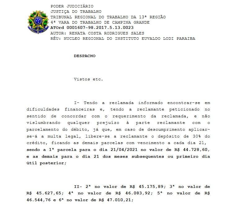 1253 - BUEGA ASSUME ASSÉDIO NA FIEP e confirma contratação irregular: presidente afirma condenação e tentar desqualificar DANO MORAL; confira os detalhes do processo