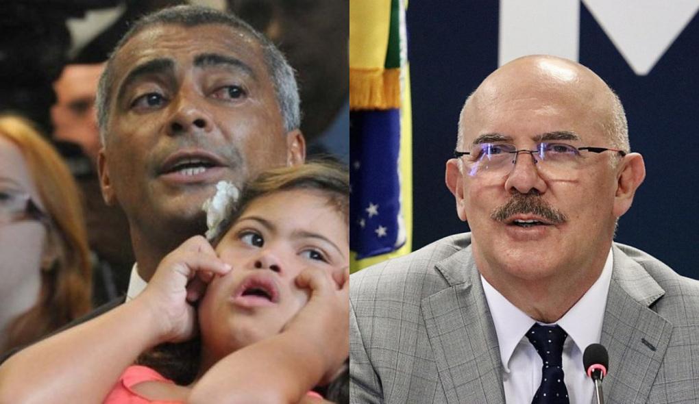"""1629208755952045 - Romário rebate Ministro da Educação por fala sobre alunos deficientes: """"completo idiota"""""""