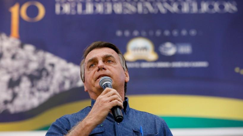 """1 51408222233 409e7a10ef k 16927318 - Em evento com evangélicos, Bolsonaro diz que """"não existe"""" chance de ser preso"""