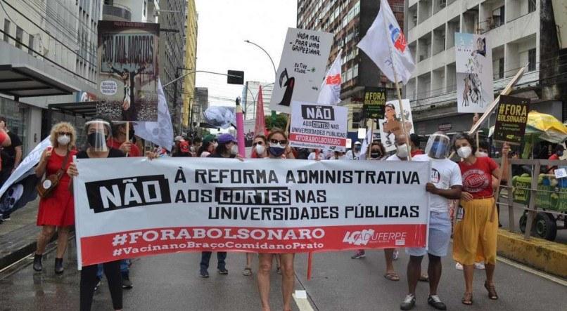 1 foto ato ra 18676183 - NÃO AOS CORTES: Servidores públicos fazem greve contra PEC da reforma administrativa