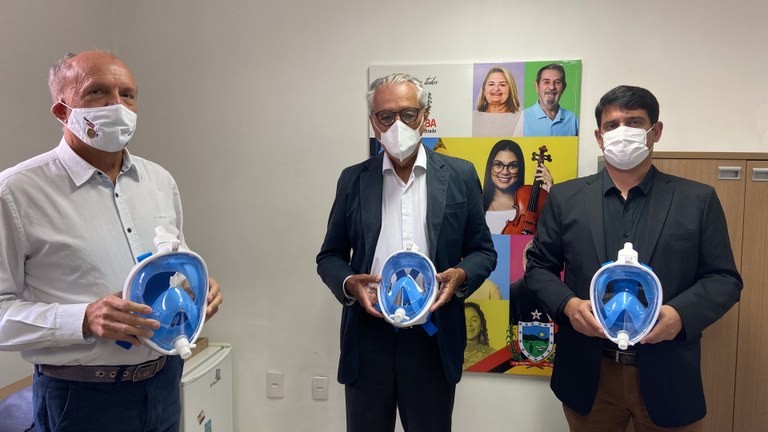 82754d04 d61a 4178 afcb e6abac1b410e - Saúde recebe doação de máscaras que ajudam no tratamento de pacientes com Covid-19