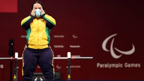94990208 tokyo 2020 paralympic gamespowerliftingwomens73 kg finaltokyo international - FAZENDO HISTÓRIA: Mariana D'Andrea conquista o primeiro ouro da história do Brasil no halterofilismo