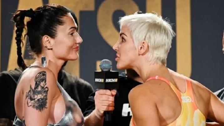 Captura de tela 2021 08 31 090254 - OUSADA! Lutadora usa vibrador para provocar rival durante encarada no MMA - VEJA VÍDEO