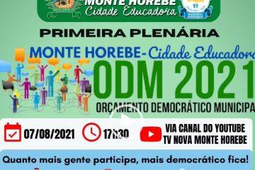 Prefeito de Monte Horebe exibe obras e convoca população para participar do Orçamento Democrático – VEJA VÍDEO