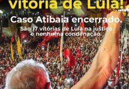 """Lula comemora vitória na justiça no caso do """"sítio de Atibaia"""""""