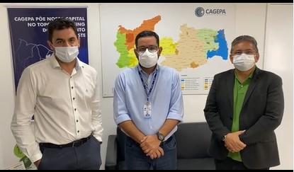 Capturar 96 - Em reunião com Adriano Galdino e presidente da Cagepa, prefeito de São Bento discute medidas de combate à seca - VEJA VÍDEO