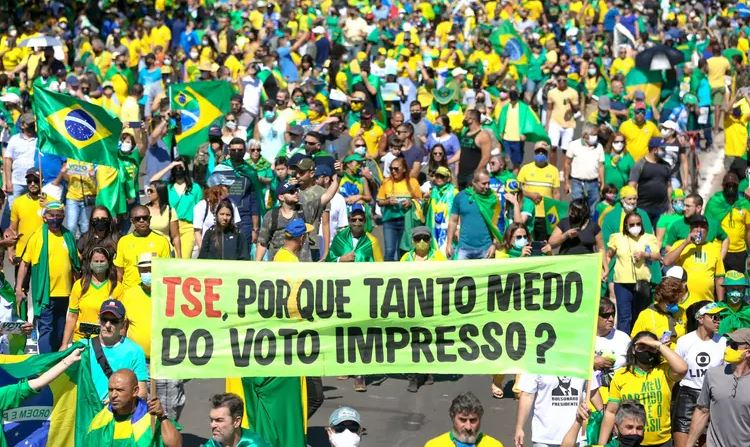 Capturar.JPGsws - 'Sem eleição limpa, não haverá eleição', diz Bolsonaro em nova ameaça sobre 2022 - VEJA VÍDEO