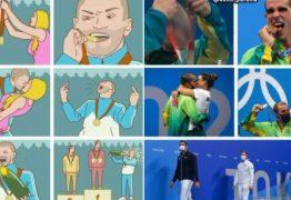 Bruno Fratus 'recria' meme de artista russo em celebração do bronze