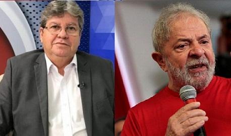 Joao Azevedo Lula 1 - ELEIÇÕES 2022: Buscando apoio para Lula, PT nacional se reúne com João Azevêdo na próxima semana