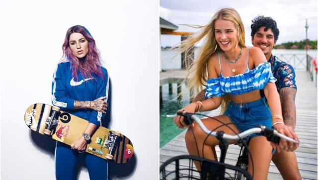 """MEDINA YASMIN E LETICIA - CONFUSÃO: Medina, Yasmin Brunet e Letícia Bufoni trocam indiretas nas redes sociais, e skatista reage: """"Não gostou, tchau bebê"""""""