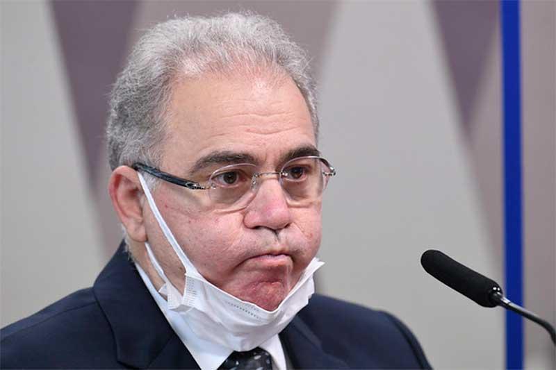 Marcelo Queiroga Foto Jefferson Rudy Agencia Senado - Queiroga diz ser contra uso obrigatório de máscara e critica multa para quem não usa o equipamento