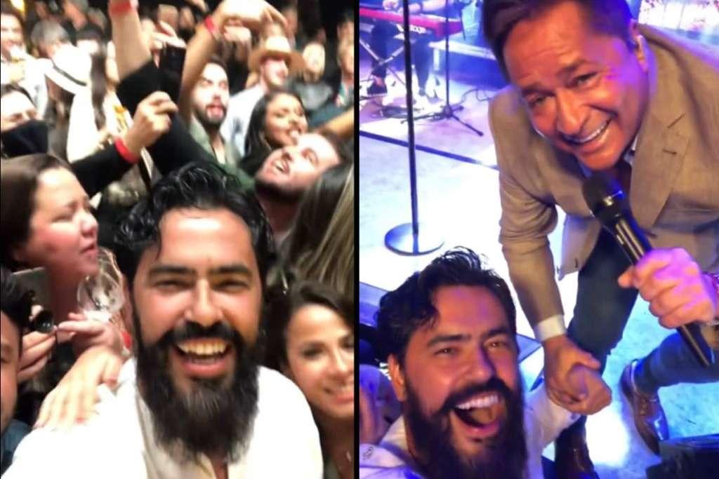Prefeito de Santa Luzia em show sem mascara - Imagens mostram prefeito aglomerando em show do cantor Leonardo: 'Não resisti'