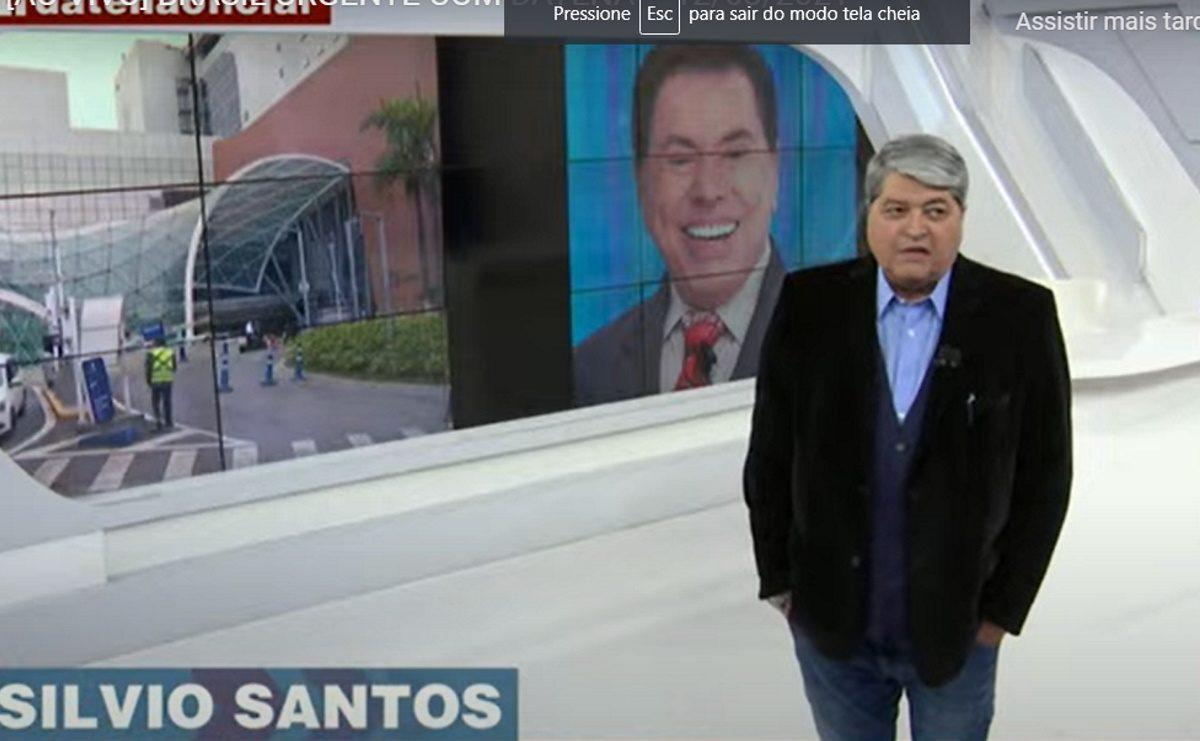 SILVIO SANTOS DATENA e1628805964472 - Datena diz que Silvio Santos estaria com Covid-19 e SBT se pronuncia - VEJA