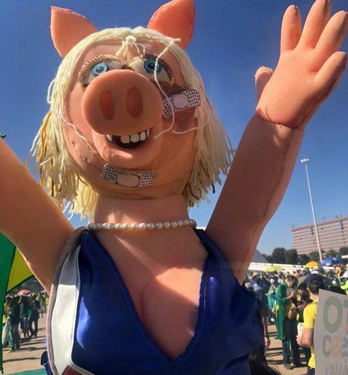 """WhatsApp Image 2021 08 01 at 16.54.35 1 e1627850272861 - Manifestação de bolsonaristas pelo voto impresso usa boneca da Peppa Pig """"espancada"""" para atacar Joice Hasselmann"""