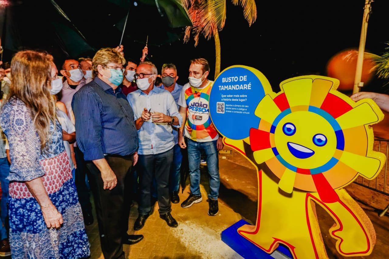 WhatsApp Image 2021 08 05 at 19.50.59 1 - Inaugurado novo letreiro de João Pessoa no Busto de Tamandaré; CONFIRA FOTOS