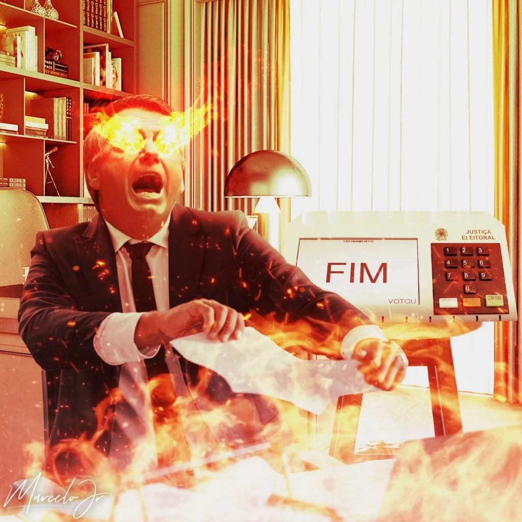 WhatsApp Image 2021 08 06 at 15.57.29 - CHARGE DA SEMANA: PEC do voto impresso derrubada; a decepção e fúria de Bolsonaro - Por Marcelo Júnior