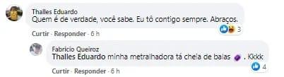 """WhatsApp Image 2021 08 07 at 20.56.24 - Em post sobre ex-amigos, Queiroz sugere: """"Metralhadora cheia de balas"""""""
