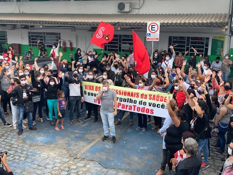 WhatsApp Image 2021 08 09 at 08.56.35 - Em novas mobilizações, servidores municipais da saúde e educação de Campina cobram respeito e cumprimento de direitos fundamentais