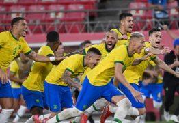 MEDALHA GARANTIDA: Goleiro paraibano defende cobrança de pênalti e Brasil avança para a final do futebol masculino