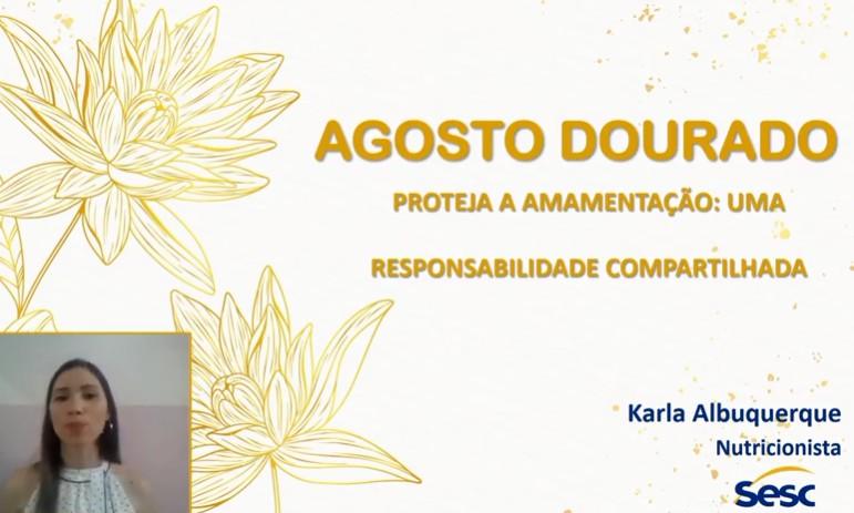 agg - Sesc realiza palestra online sobre amamentação
