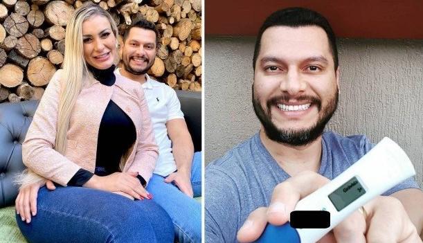 """andress - Marido anuncia gravidez de Andressa Urach, """"Foi muito desejado"""""""
