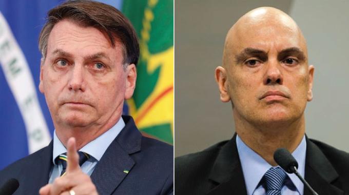 bolsonaro e moraes 2 - URGENTE: Bolsonaro protocola pedido de impeachment de Alexandre de Moraes
