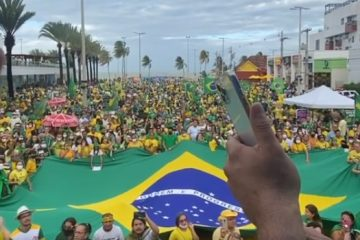 """Durante manifestação em João Pessoa, Bolsonaro diz que dará """"recado final"""" a ministro Barroso em favor do voto impresso – VEJA VÍDEO"""