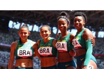 Revezamentos 4x100m rasos do Brasil são eliminados em Tóquio