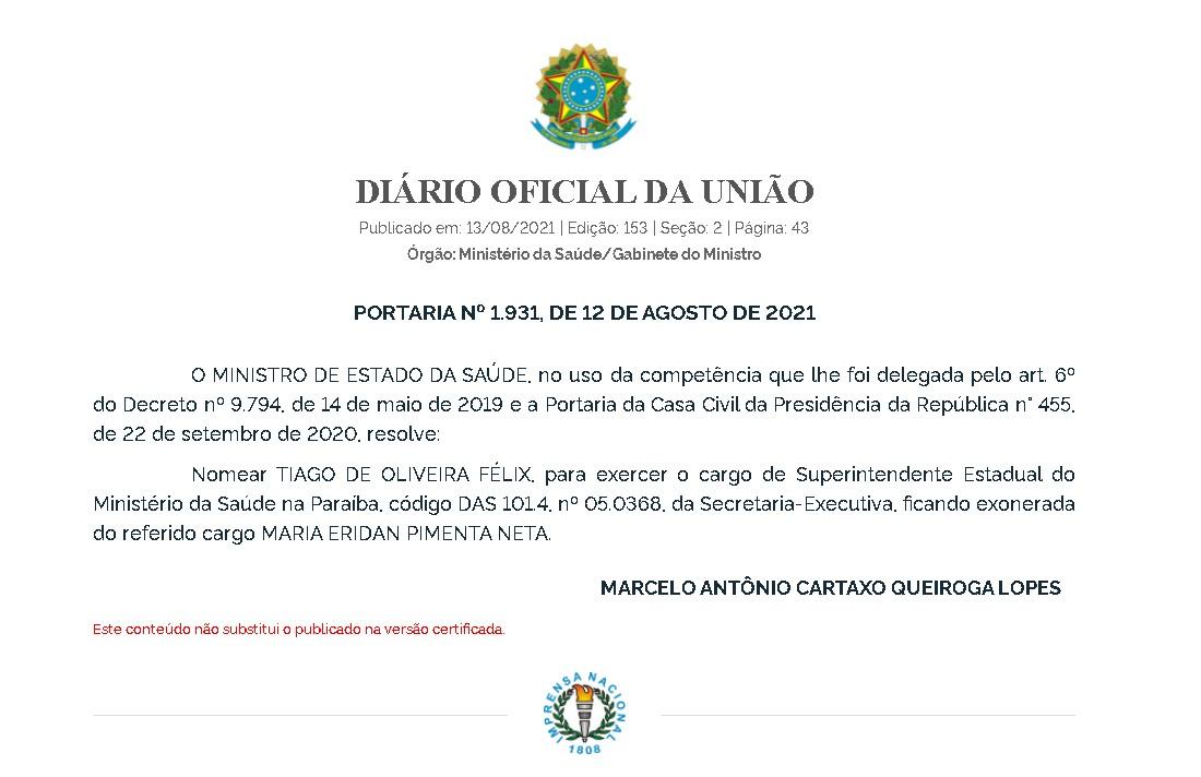 download 2 - Queiroga nomeia novo superintendente do Ministério da Saúde na Paraíba; indicação foi de Wellington Roberto