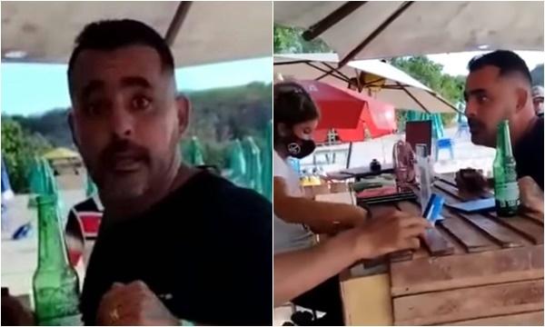 """felipe brasileiro - """"Você é uma bost*"""", diz empresário humilhando atendente de lanchonete com ofensas e palavrões; VEJA VÍDEO"""