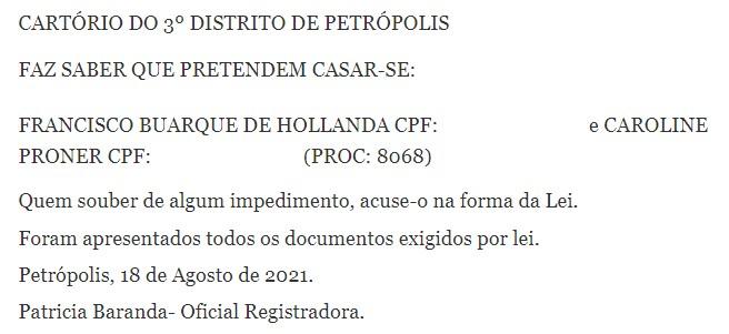 image M92tuhL - Chico Buarque irá se casar com a advogada Caroline Proner