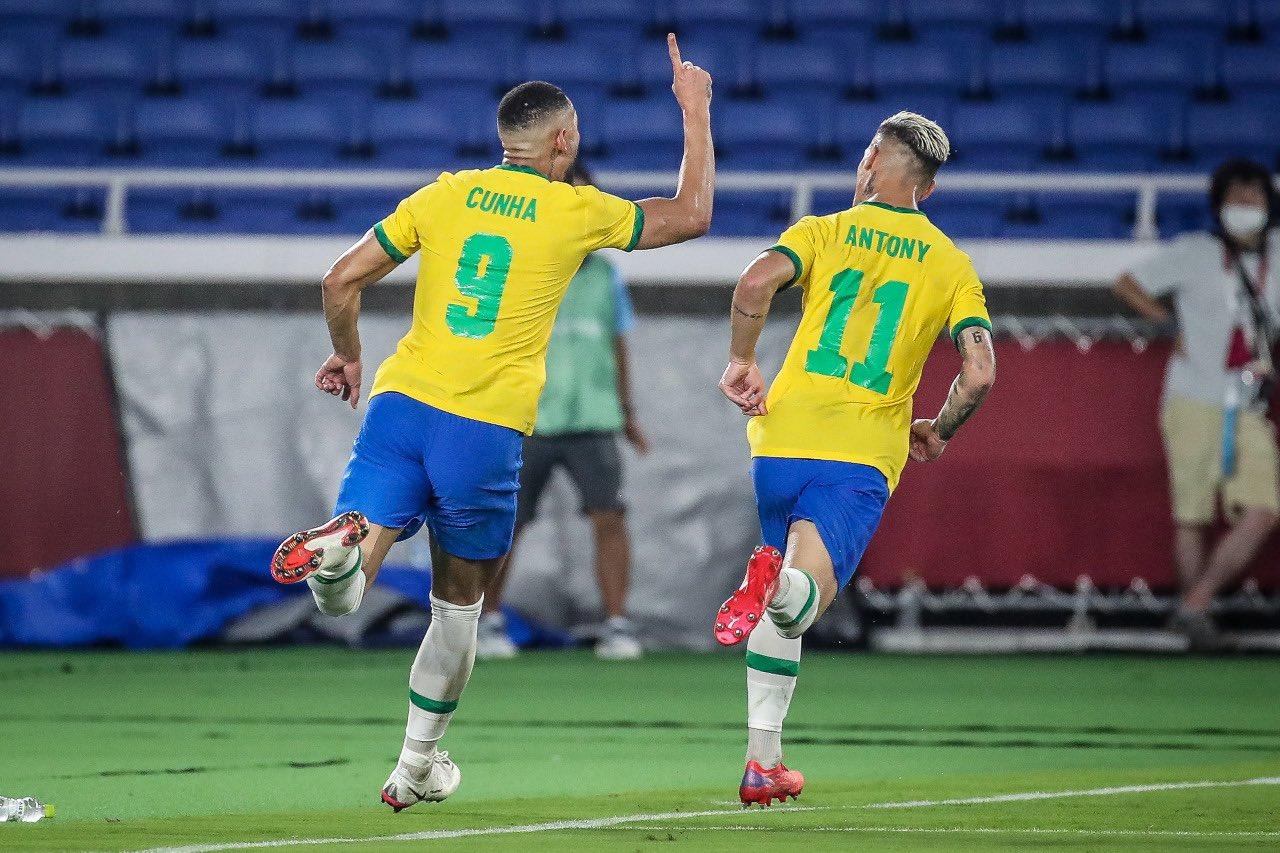 matheus cunha - MEDALHA DE OURO: Com gol do paraibano Matheus Cunha, Brasil vence Espanha na final do futebol masculino; PB ganha duas medalhas