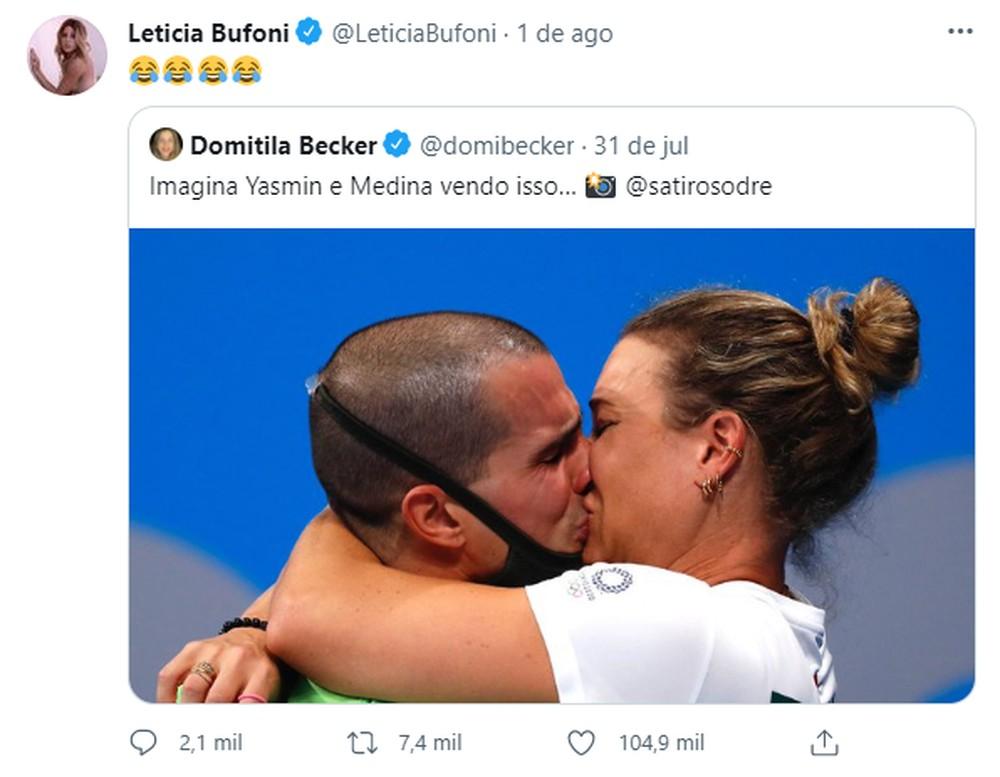 """meme bufoni - CONFUSÃO: Medina, Yasmin Brunet e Letícia Bufoni trocam indiretas nas redes sociais, e skatista reage: """"Não gostou, tchau bebê"""""""