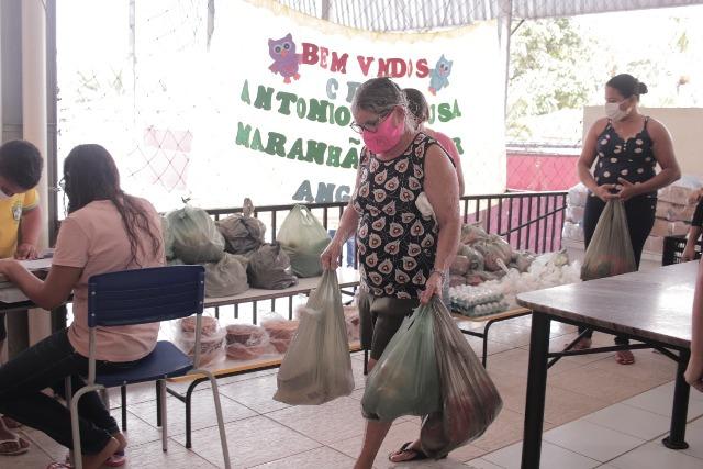 merenda conde - Prefeitura de Conde intensifica entrega de kits de merenda para alunos da rede municipal de ensino
